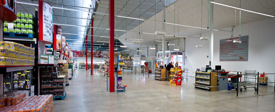 Interior Unicash cash and carry